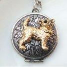 Steampunk Original Design Dog Locket Vinatge Style Necklace