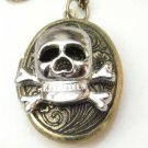Steampunk Original Design Skull Locket Brass Necklace