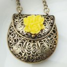 Steampunk Original Design Handbag Locket Brass Necklace