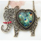 Steampunk Original Design Elephant Brass Necklace