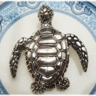 Antique Brass Turtle Pin Brooch