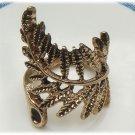 Size 7.0 Antique Brass Leaf Ring Vintage Style