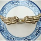 Size 7 Antique Brass Wings Ring Vintage Style