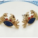 Antique Brass Crab Ear Stud Vintage Style