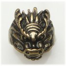 Size 6.5 Antique Brass Dragon Ring Vintage Style