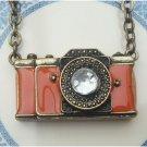 Antique Brass Camero Necklace Pendant Vintage Style