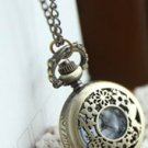 Antiqued Brass Vintage Style  Classic  Necklace   Fairy Tale Style Key Pocket Watch Necklace