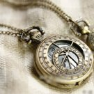 Antiqued Brass Vintage Style Classic Nomadic Origins Of Xing Wen Pocket Watch Necklace