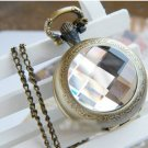 Antiqued Brass Vintage Style The Time Gem Pocket Watch Necklace
