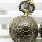 Antiqued Brass Vintage Style Classic Spider ball Pocket Watch Necklace