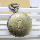 Antiqued Brass Vintage Style Vitoria Shield Pocket Watch Necklace
