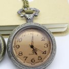 Antiqued Brass Vintage Style Citrite Pocket Watch Necklace