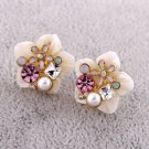 Vintage Style Classic Ear Stud Vogue Wedding Bridal Bridemaids Gift Conch Crystal