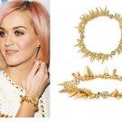Vintage Style Vogue Gold Inlay Rhinestone Punk Hand Chain