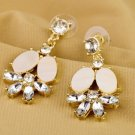 Vogue Gold Inlay Rhinestone Crystal Dinner Wedding Bridal Bridemaids Gift multicolour Earrings