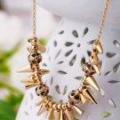Vintage Style Vogue Gold Inlay Rhinestone Crystal Dinner Wedding Bridal Bridemaids Gift Necklace