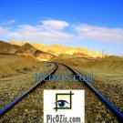 "BLA001201109 - Railroad in the desert - 20x25cm (8x10"")"
