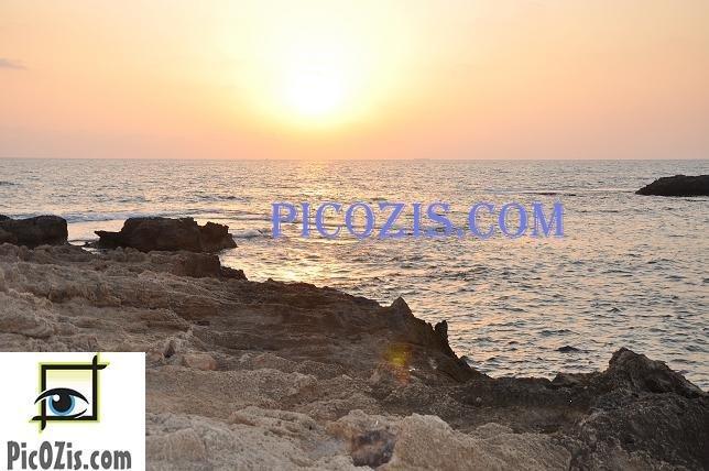 "BSU001201109 - Beautiful sunset in Israel-20x30cm (8x12"")"