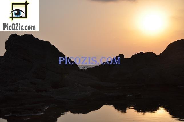 "BSU002201109 - Sunset at Hof Dor - 28x35cm (11x14"")"