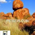 "VLA011201109 - Devils Marbles - 28x35cm (11x14"")"