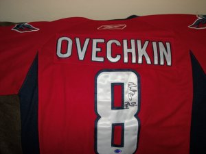 Alexander Ovechkin autographed Rookie of the Year Jersey