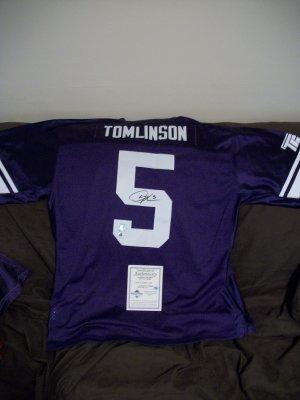 Ladanian Tomlinson autographed TCU authentic jersey