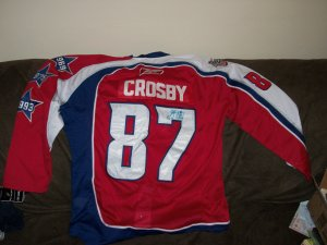 Sydeny Crosby autographed 2009 All-Star jersey