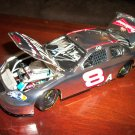 Dale Earnhardt Jr autographed 1:24 scale silver stock car #8