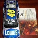 Jimmie Johnson autographed 1:24 Lowe's car
