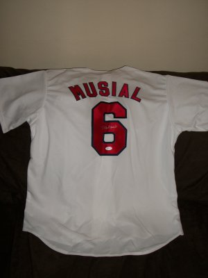 Stan Musial autographed brand new Cardinals Jersey-JSA