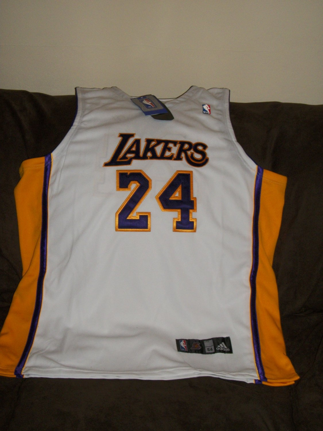 Kobe Bryant autographed authentic white Lakers Jersey