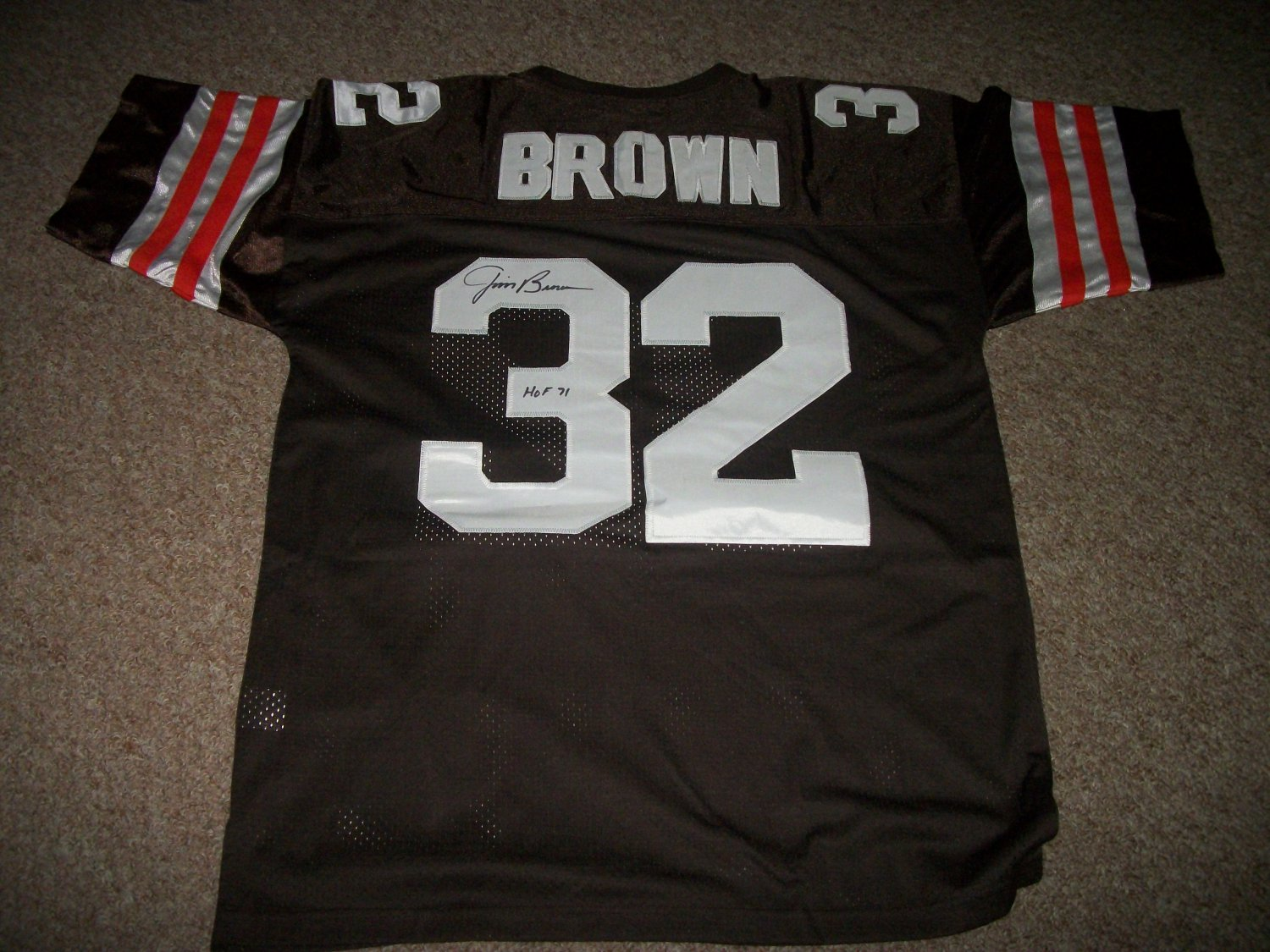 Jim Brown authentic signed Cleveland Browns Jersey