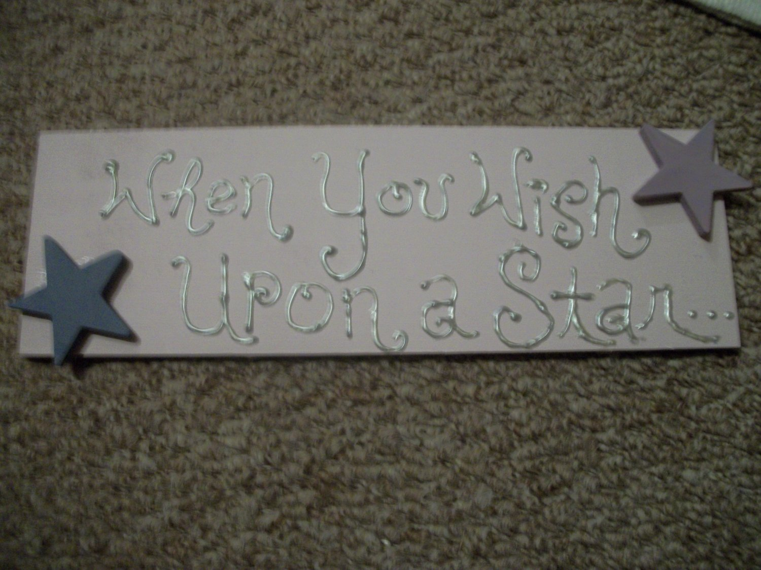 """When you wish upon a star......."" decorative sign"