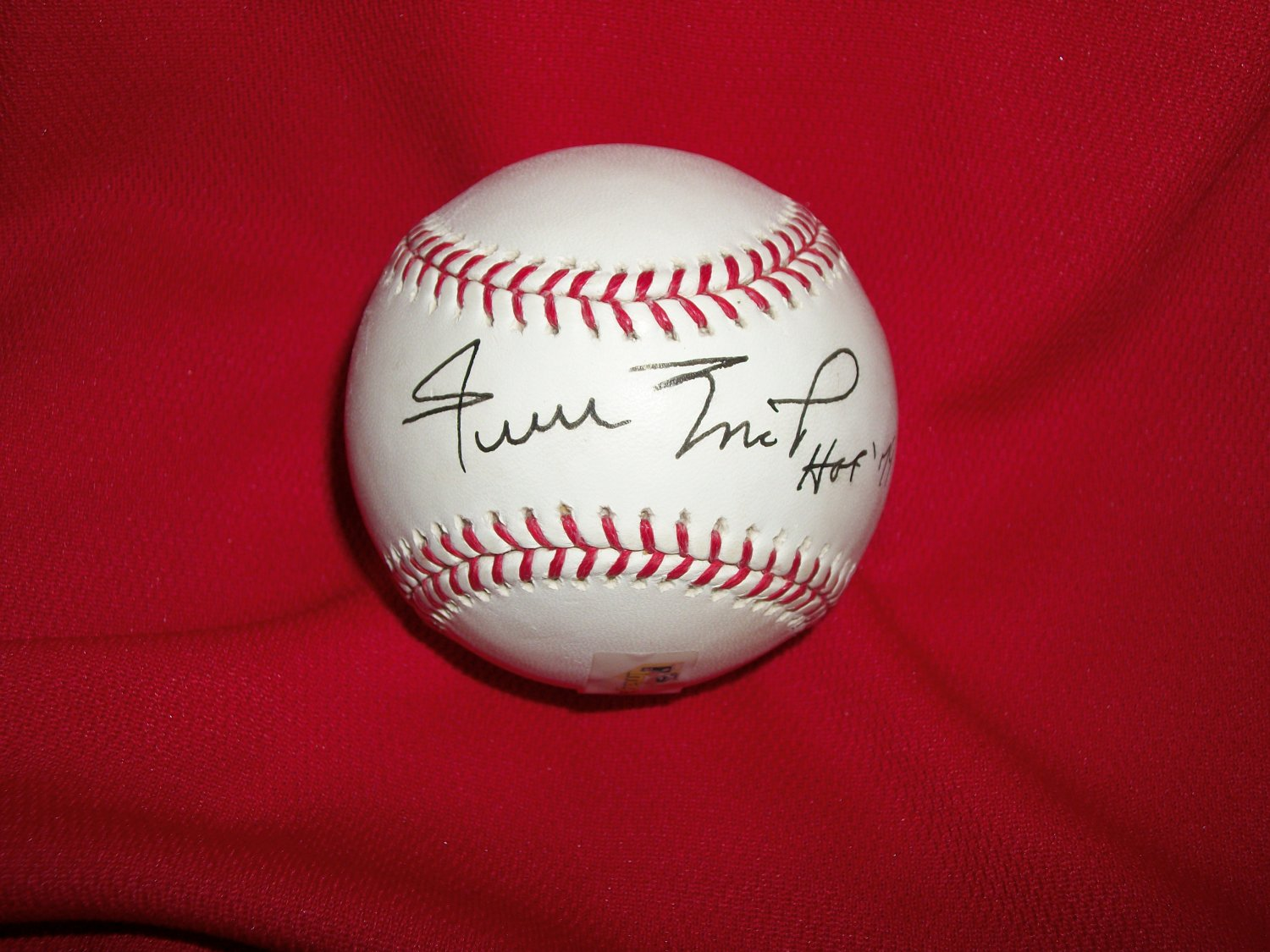 Willie Mays autographed 1979 HOF authentic baseball