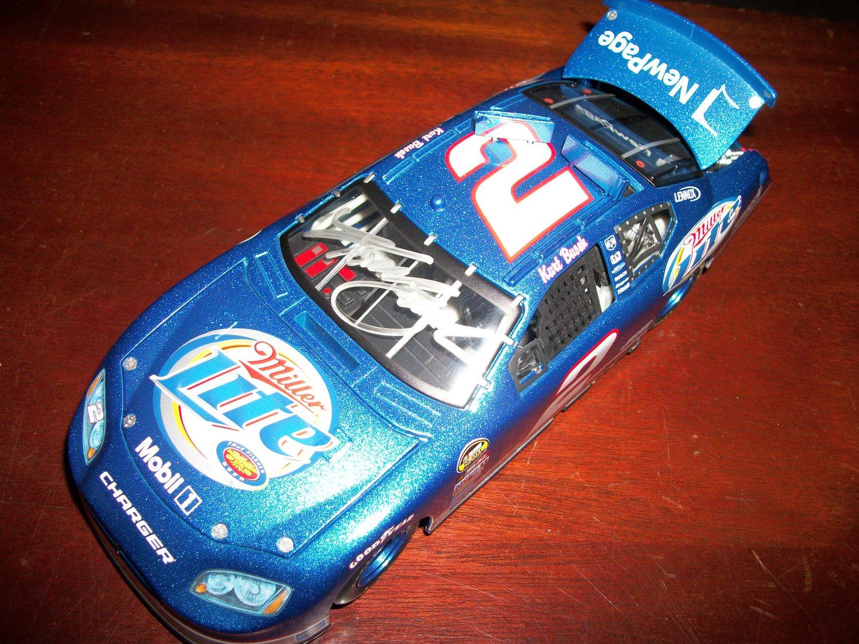 Kurt Busch autographed 1:24 diecast car