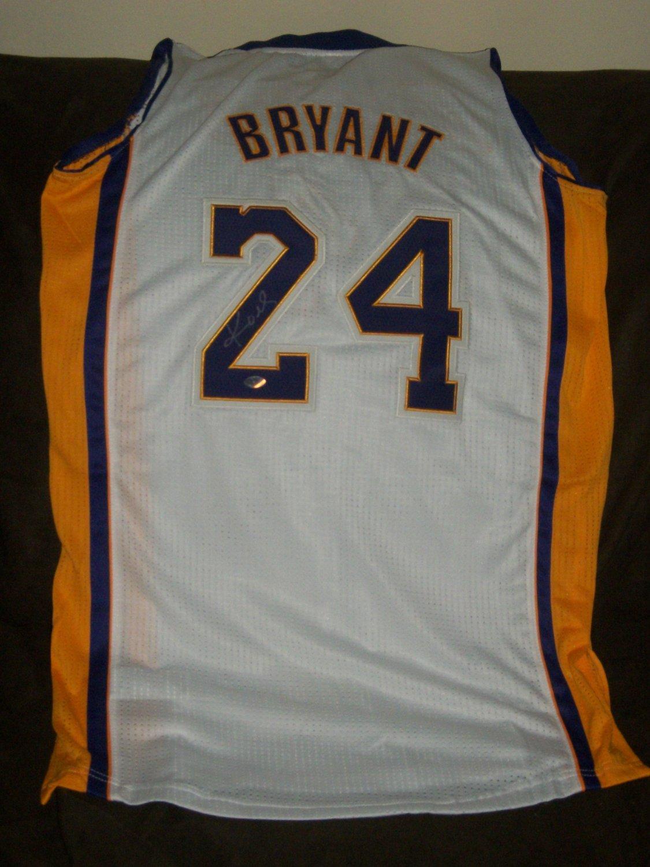Brand New Kobe Bryant Autographed Revolution 30 Adidas White Lakers Jersey