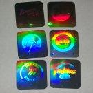 1990 Upper Deck Baseball small Reflector Team Stickers- 10pk