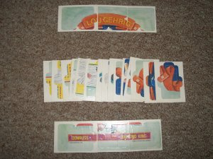 1985 Leaf Lou Gehrig Diamond King Puzzle-complete set