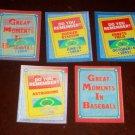 1988 Score- Great Moments In Baseball Reflector Inserts- 5 pk