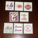 1986 MLB Sportflics Team reflector- 8 pk