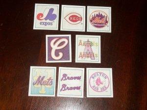 1986 MLB Sportflics Team reflector- 8 pk