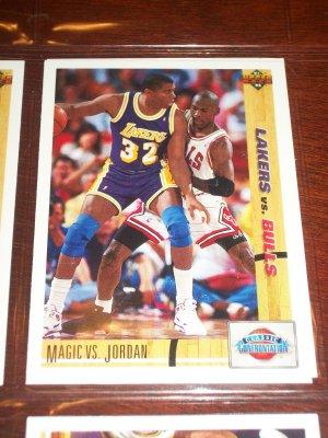 91-92 Upper Deck Magic Johnson vs. Michael Jordan- Classic Confrontation
