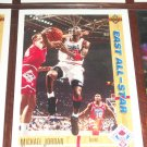 Michael Jordan 91-92 Upper Deck- East All-Stars basketball card