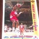 Karl Malone 91-92 Upper Deck West All-Star basketball card