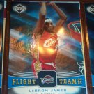 Lebron James 04-05 Upper Deck basketball card- Flight Team insert