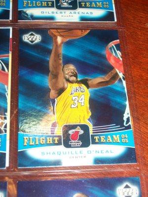 Shaquille O'Neal 04-05 upper deck basketball card- Flight Team Insert