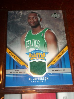 Al Jefferson 05-06 upper deck basketball card- Weekend Authentics All-Star Warm Up