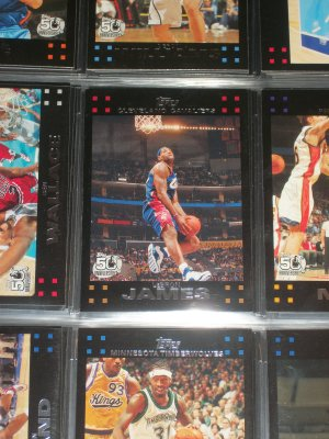 Lebron James 2007 Topps Basketball card