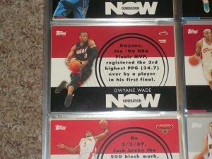 Dwyane Wade Topps 2007 Generation Now Basketball Insert Card