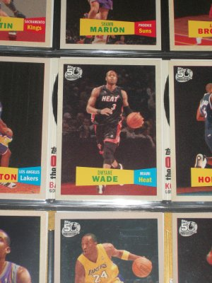 Dwyane Wade 2007 Topps 50th anniversary/2nd version
